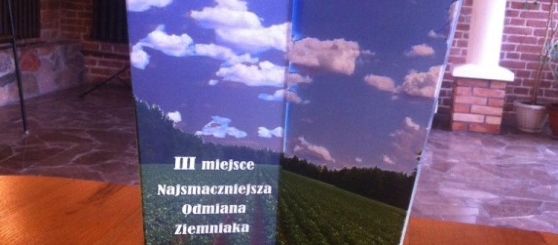 Festyn Barwy Lata jesienią w ogrodzie w Minikowie nagroda za najsmaczniejszą odmianę ziemniaka